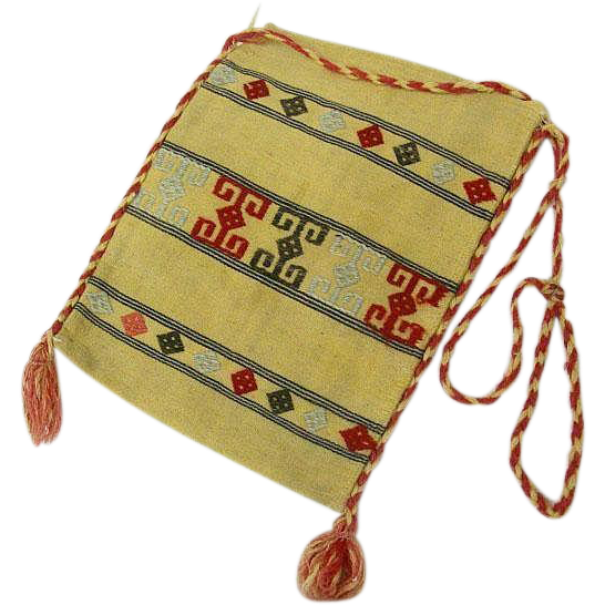 Turkish Kilim Bag Hand Woven And Embroidered