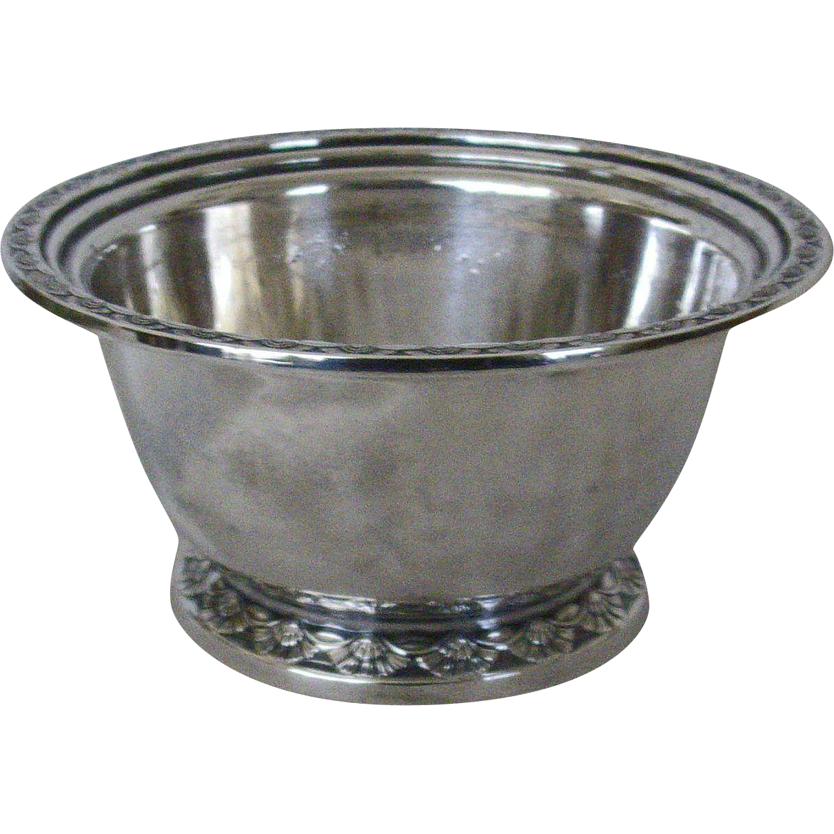 Silver Soldered Bowl With Engraved Edges