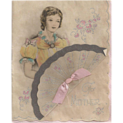 Old Fashioned Mother's Day Card 1930