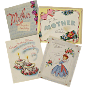 Four Birthday Cards For Mother All Dated 1940