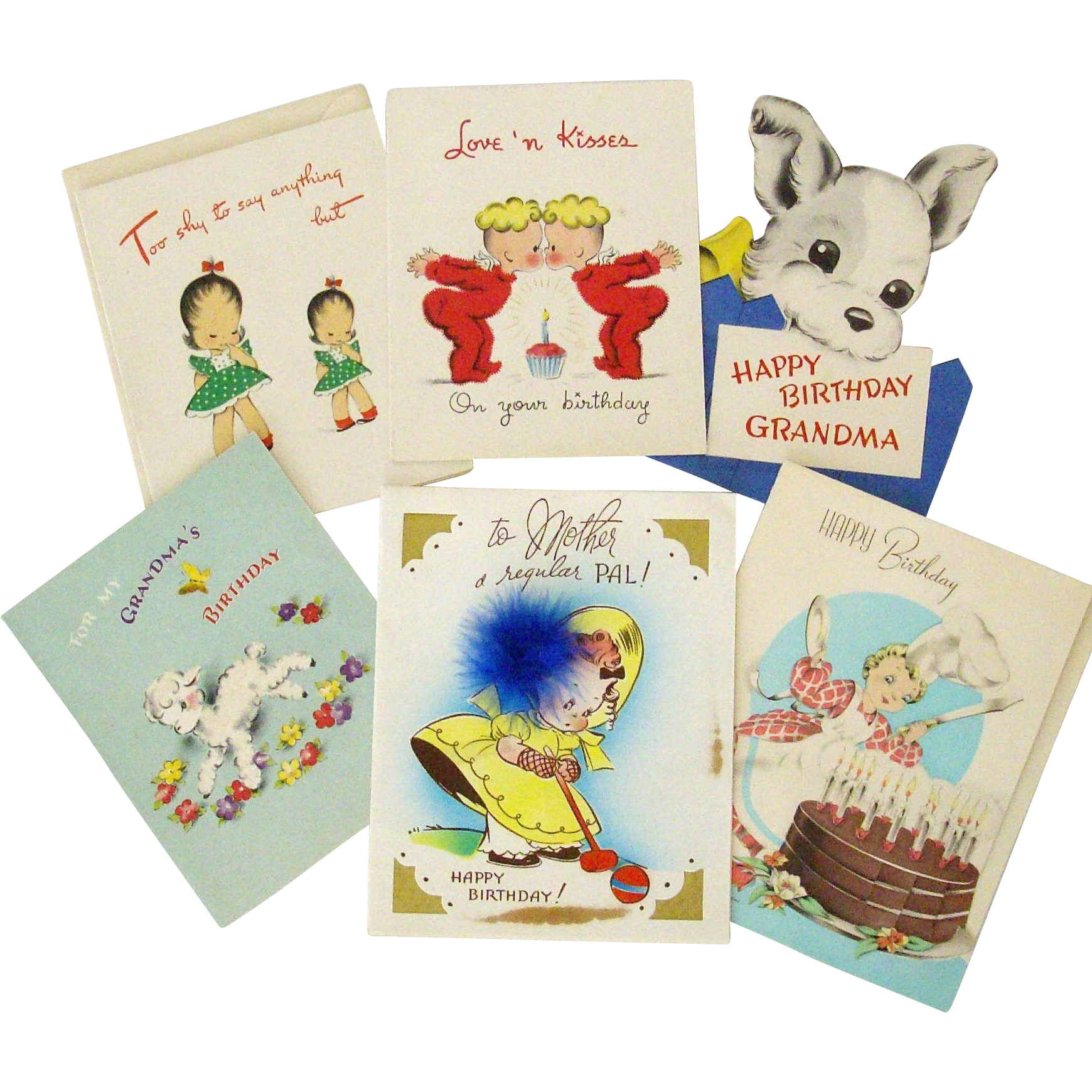 Collection Cute 1940 Birthday Cards