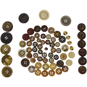 Brown Buttons Large And Small