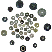 Assorted Vintage Gray Coat And Shirt Buttons