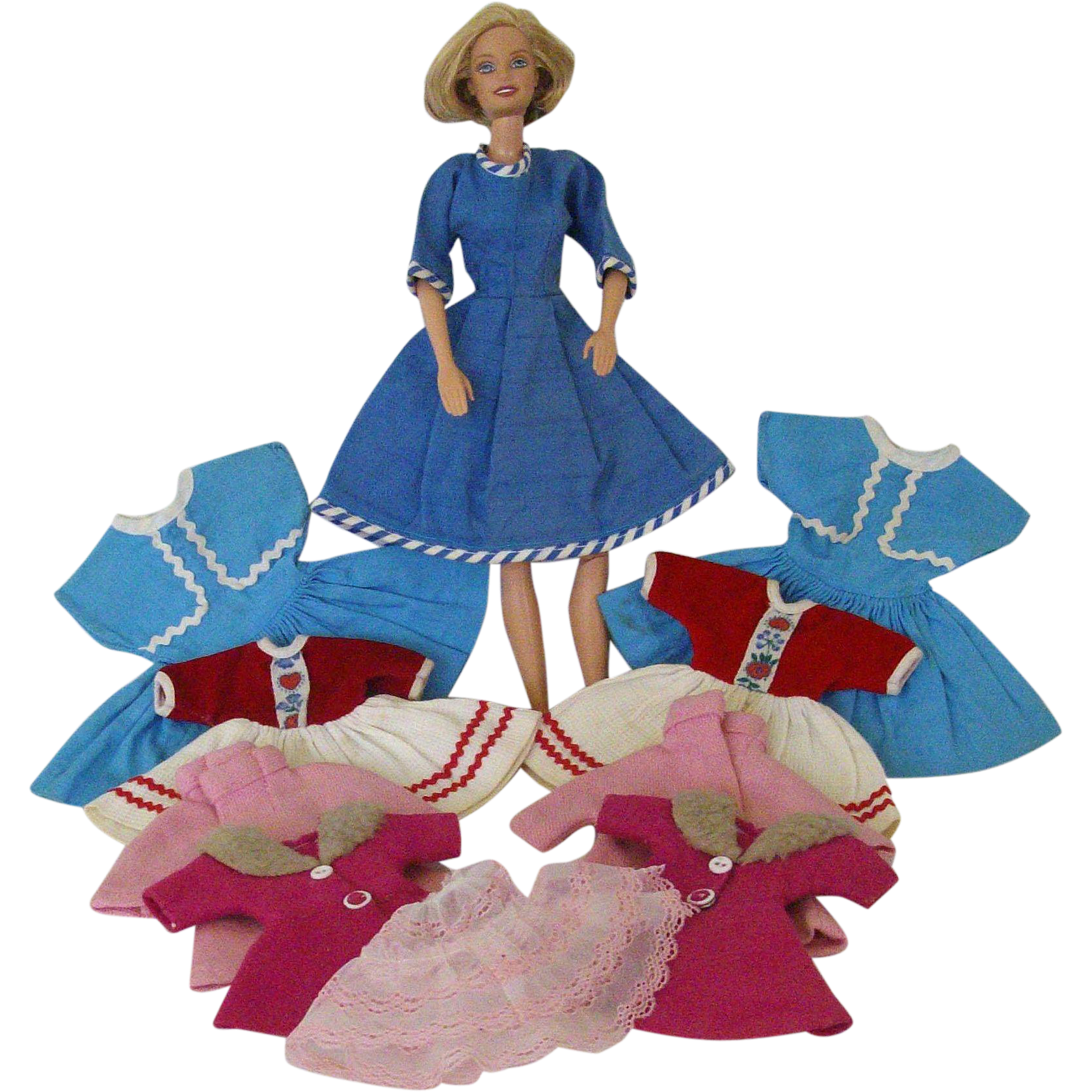 Assorted Twin Collections Vintage Doll Clothes