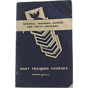 Navy Petty Officers 1953 Training Booklet