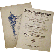 Sheet Music For Top Broadway Hit 1910