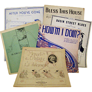 Songs of the 1930s Sheet Music