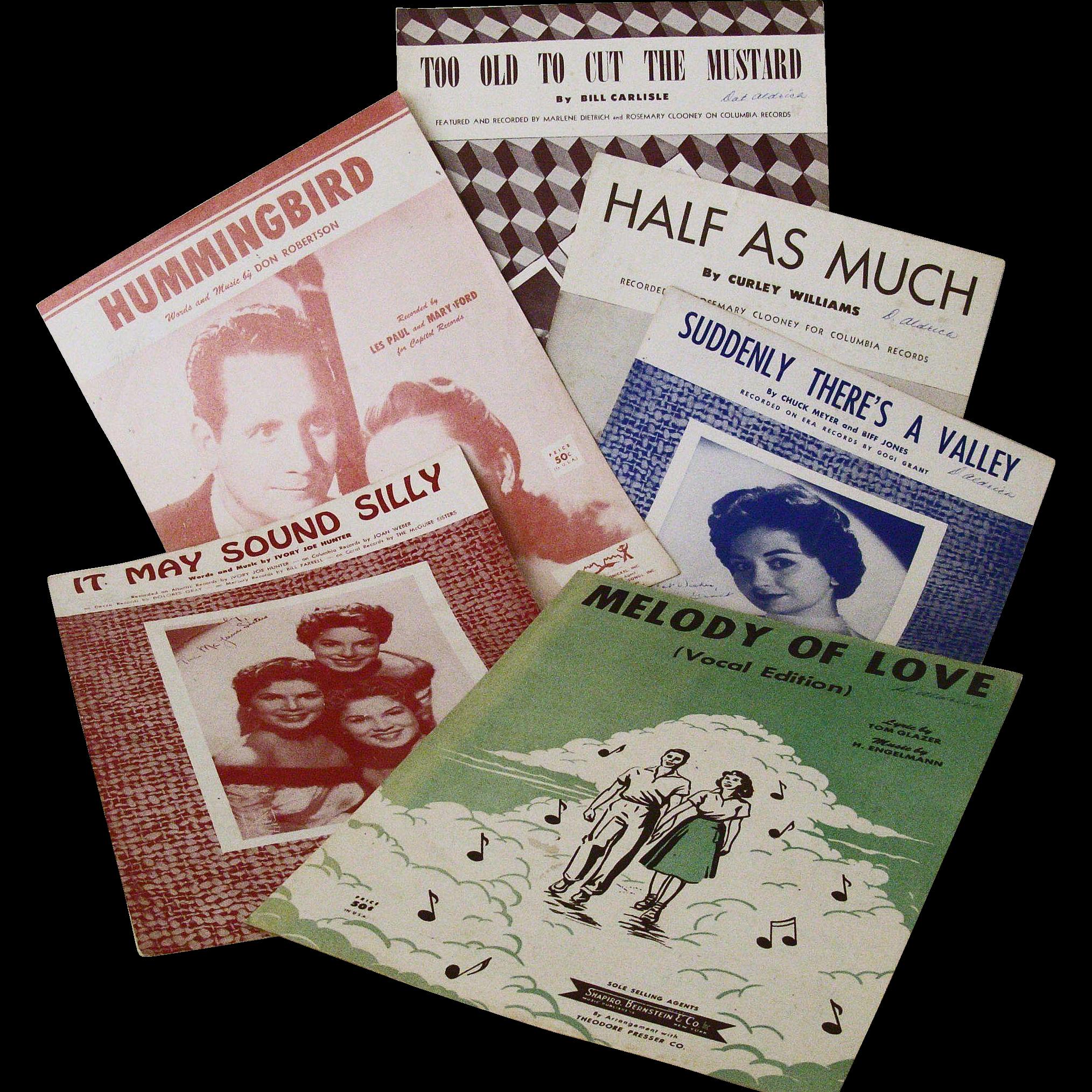 Fabulous Fifties Favorite Songs Sheet Music