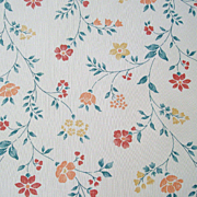 Pretty Flowers on Vintage Wallpaper