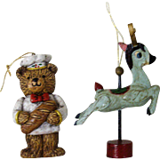 Cute Bear and Reindeer Christmas Ornaments