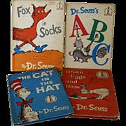 Set of Four Dr. Seuss Beginner Books