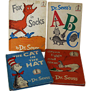 Set of Four Dr. Seuss Beginner Books