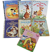 Set of Seven Little Golden Books