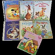 Set of Seven Little Golden Books
