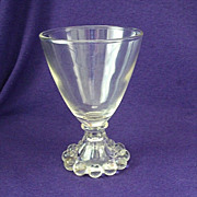 Anchor Hocking Crystal Boopie Wine Glass