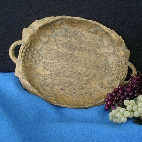 Two-Handled Syroco Style Tray Signed Nifty