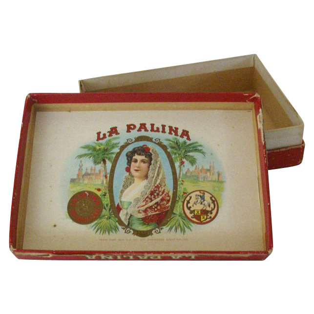 Small Cardboard Box La Palina Cigars