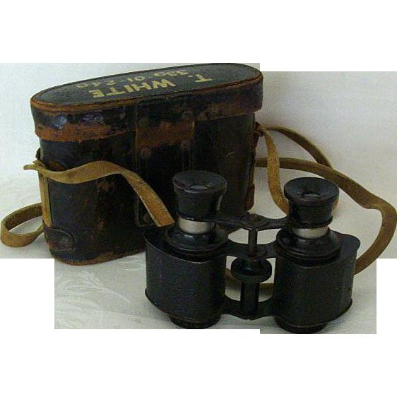 Trojan USA Binoculars With Original Case 1940s