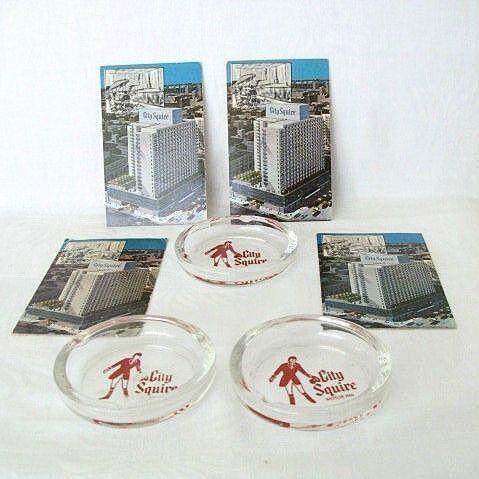 Nostalgic Reminders of NY Hotel - Postcards & Ashtrays