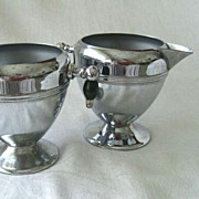 Keystone Sugar & Creamer Set Chrome Plate