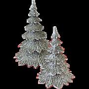 Glittering 1950s Styrene Plastic Christmas Trees