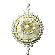 Lee Wards Velvet And Faux Pearl Ornament