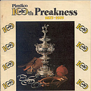 100th Preakness Race Program - 1975
