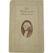 Washington Monument Rare Visitor's Guide 1923