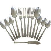 Collection Silverware Anniversary Pattern Silverplate