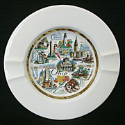 Ohio Souvenir Ashtray 1950's