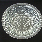 Anchor Hocking Stars & Bars Pressed Glass Serving Bowl