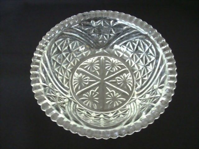 Anchor Hocking Stars & Bars Pressed Glass Serving Bowl