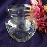 Princess House Rose Bowl or Short Vase