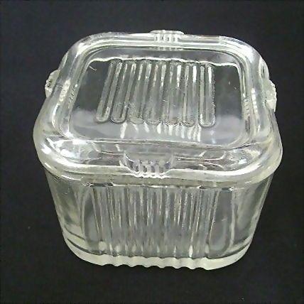Classic 1930's Federal Glass Crystal Refrigerator Jar