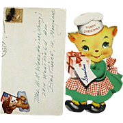 Christmas Card 1944 With Wartime Sticker