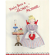 Valentine Greeting Card for Mom Postmarked 1941
