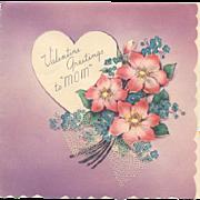 Valentine Greetings For Mom Postmarked 1940