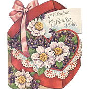 Pretty Flowers For Mom On Valentine's Day -1952