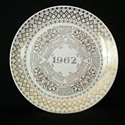 1962 Anniversary Calendar Plate