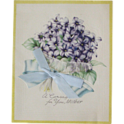 A Corsage For Mother Dated 1946