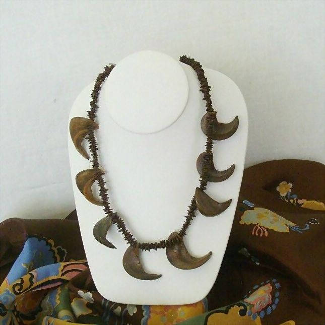 Curly Seed Pods Highlight Organic Necklace