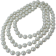 Extra Long Large White Plastic Beads