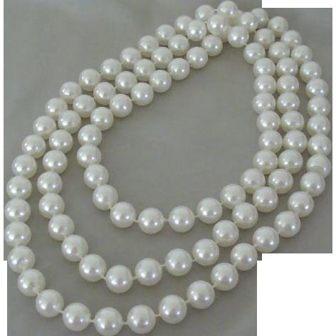 Extra Long Large White Plastic Beads