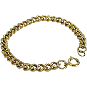 Gold-tone Curb Chain Bracelet For Charms