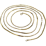 Sleek Gold-Tone Serpentine Chain Extra Long