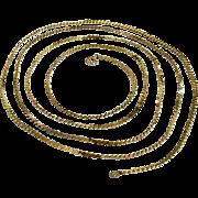 Sleek Gold-Tone Serpentine Chain Extra Long