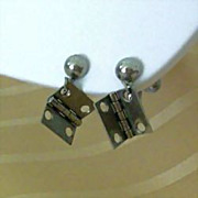 Unusual Earrings Are Miniature Door Hinges