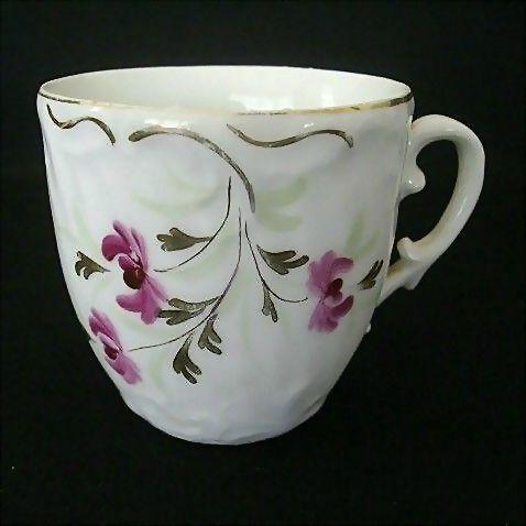 Vintage Floral Mustache Cup