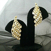 Rows Of Rhinestones March Across Bellini Earrings
