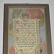 Vintage Motto The Gift  of Life  Inspirational  Gibson Art Company Motto Print  Masonic Poet  Brother Douglas Malloch